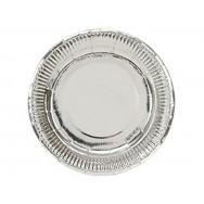 Тарелка фольгированная серебро 17см/6шт. (1502-3778)