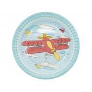 Тарелка бумажная Самолетики 17см / набор 6шт/G (1502-4243)