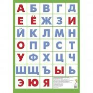 Плакат А4 Азбука русская без картинок /Литур