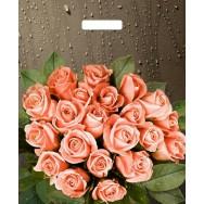 Пакет Тико с вырубной ручкой 45*38см 60мк Розы после дождя